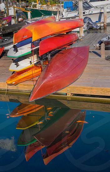 Kayak & canoe reflections photo