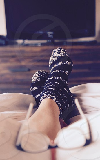 Cozy Socks and a Good Book photo