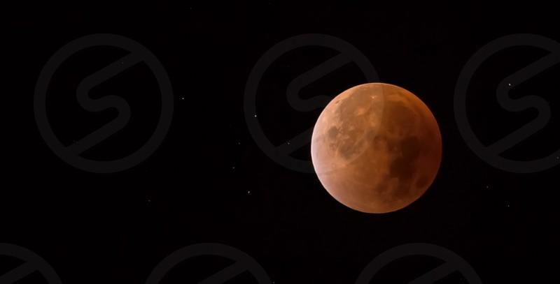 Moon star blood moon phenomenon Galaxysun super moon orange red lunar eclipse photo