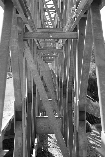 Mono bridge crossing  photo