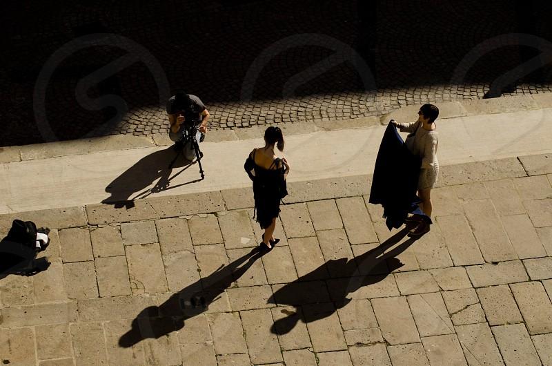 woman's black dress photo