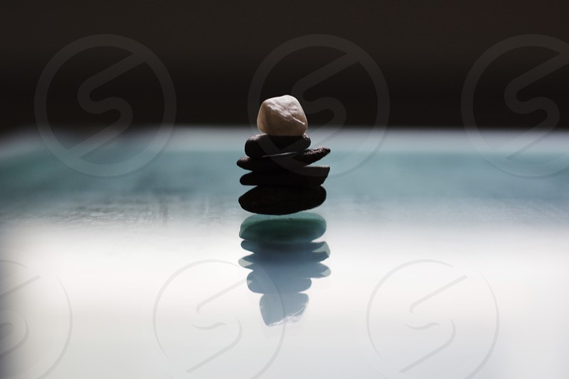 rocks reflection blue peace photo