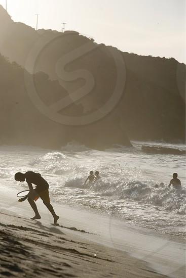 the Coast at the beach in the town of Manzanillo on the Isla Margarita in the caribbean sea of Venezuela. photo