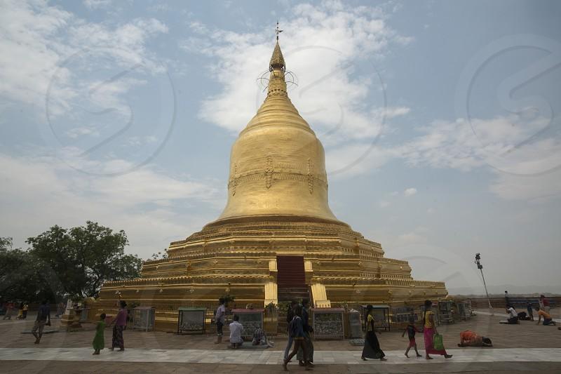 the Lawkananda Pagoda at the Ayeyarwady River in Bagan in Myanmar in Southeastasia. photo