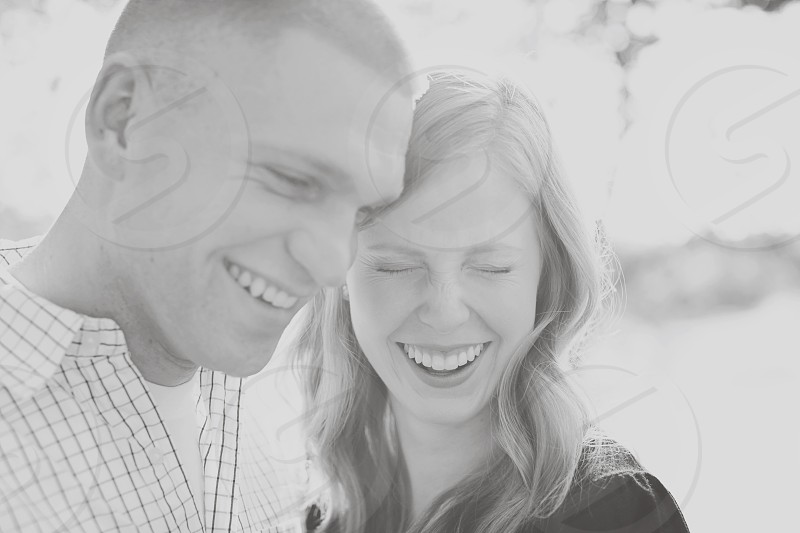Laughter Smiling Love Real Raw Moment Engaged Happiness Fun Couple Joy  photo