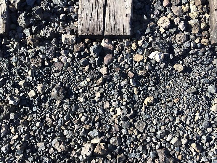 Railroads and stones photo