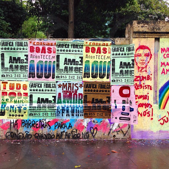 Colourful political posters in Brazil photo