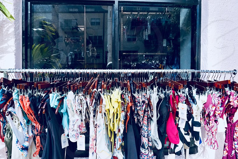 Retail retail shopping shoppebusiness shop clothes rack small business hanging clothes store hangers  photo