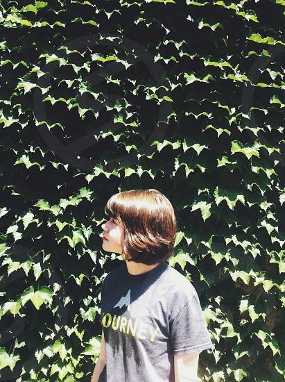 girl's grey journey printed tshirt photo