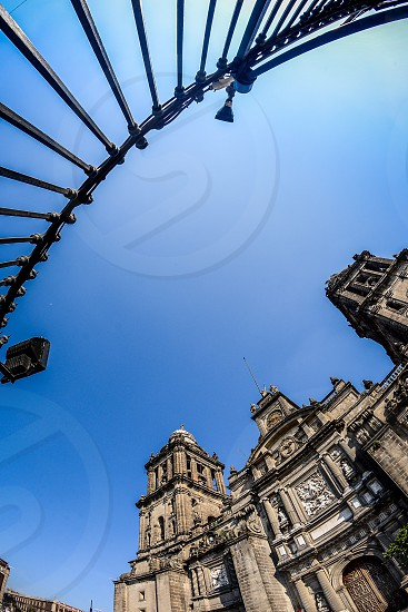 Shoot from the cathedral of Mexico city zocalo. photo