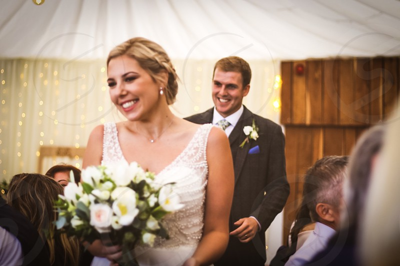 Wedding; happiness; white dress; bride; groom photo
