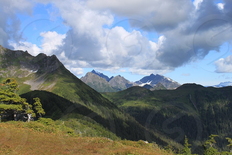 Eastern view from Harbor Mountain in Sitka AK photo