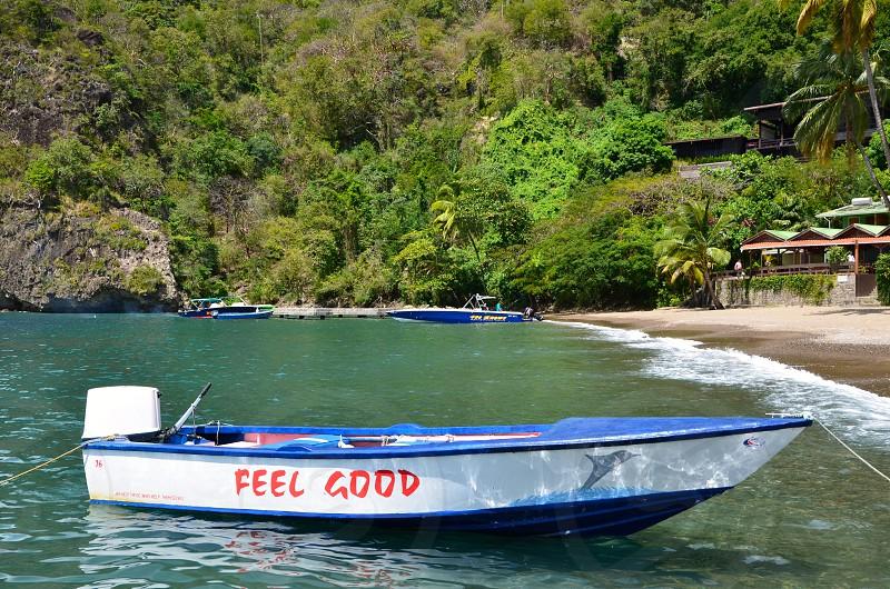 Tropics boat feel good beach vacation photo
