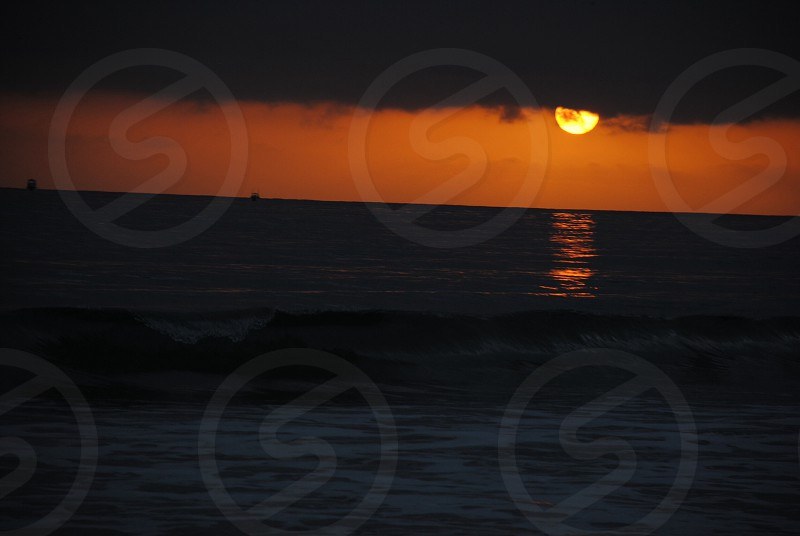 sunset view on the beach photo