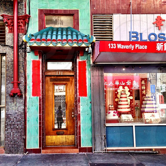 view at the front of a chinese store photo