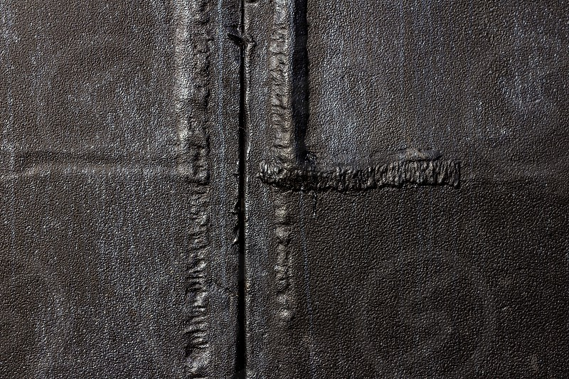 Rusted Steel Plates With Welding Seems. photo