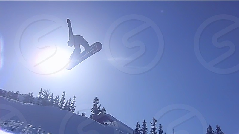 snowboarding awesome snow jump snowboard flip snow jump mountain terrain snowboarding photo