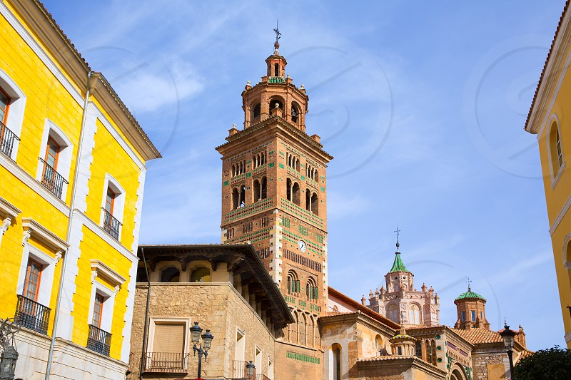 Aragon Teruel Cathedral and Ayuntamiento City Town Hall in Spain photo