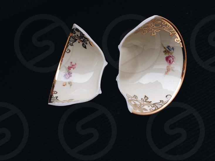 Broken porcelain photo