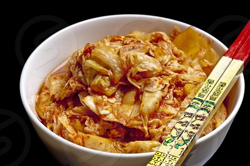 Kimchi Korean fermentated kale photo