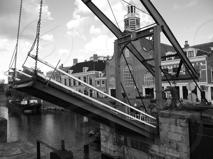 Old bridge in Rotterdam Delfshaven                    photo