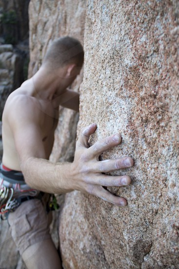 climbing rock climb rope hand chalk harness photo