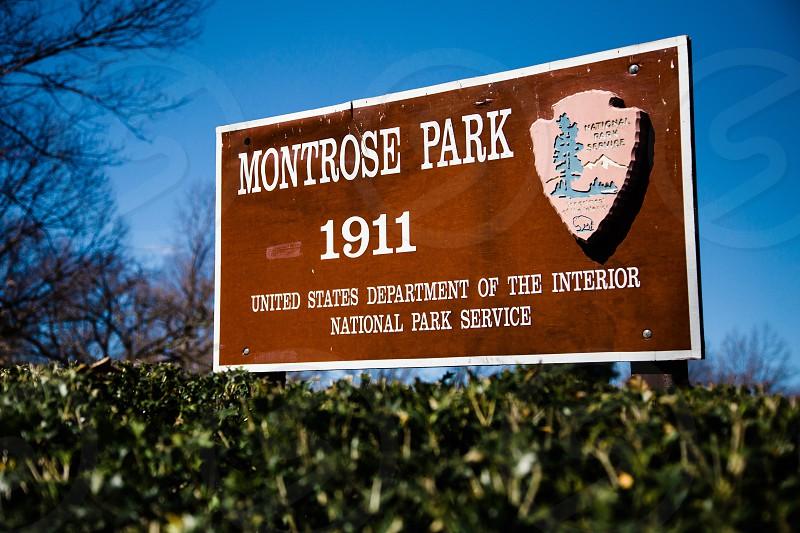 Montrose Park sign photo
