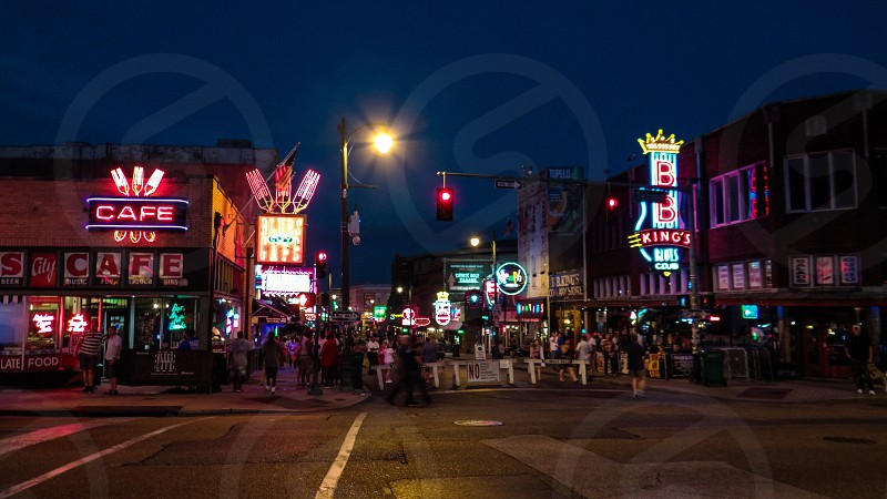 Beale Street Historic District - Memphis Tennessee USA photo