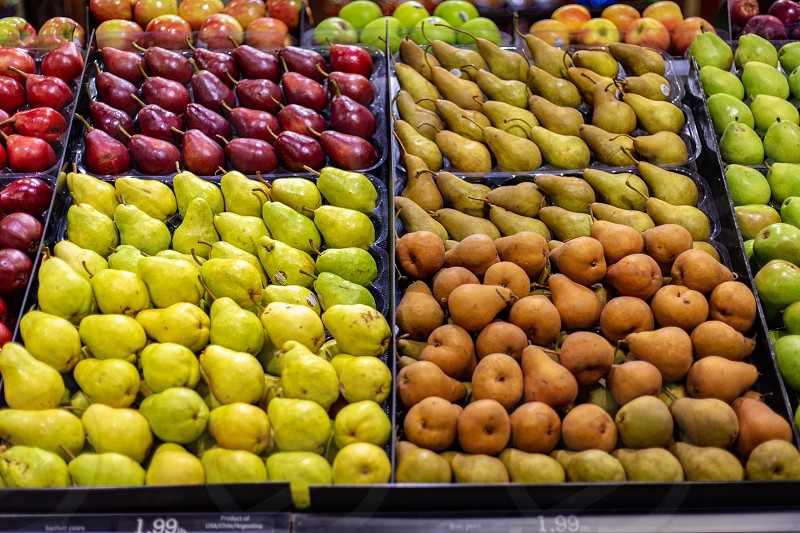A variety of fruit at the grocery store  photo