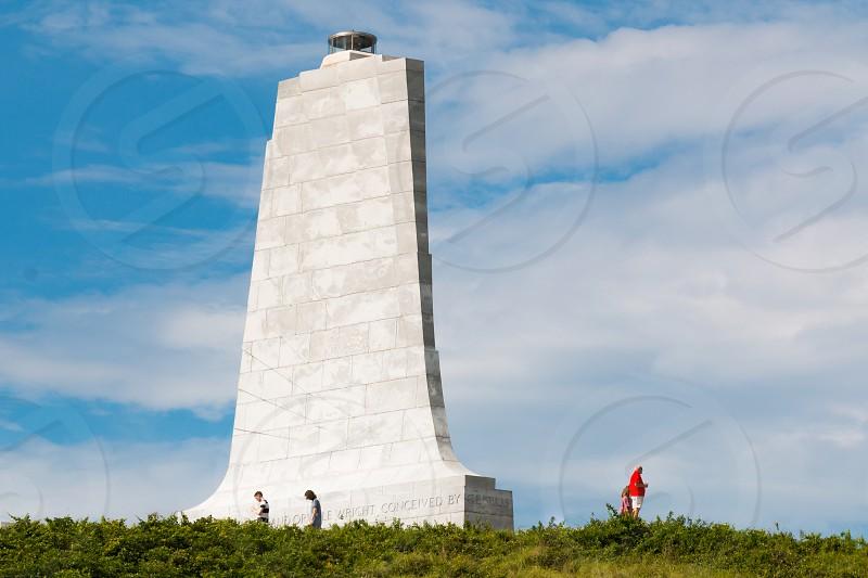 Wright Brothers National Memorial at Kill Devil Hills in North Carolina Outer Banks.  photo