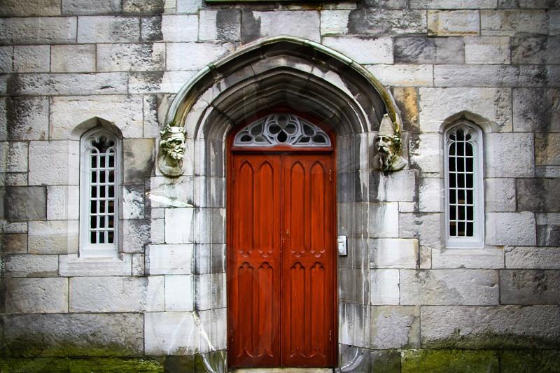 Red Door. Trinity College Dublin Ireland photo