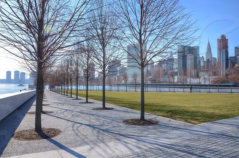grey concrete pathway photo