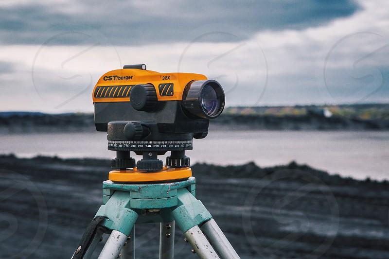 Binoculars. Horizon  photo
