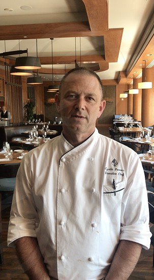 Brief interview with chef. photo