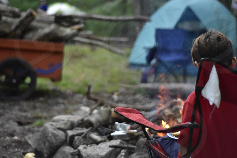 Camp camping campfire relaxation  photo