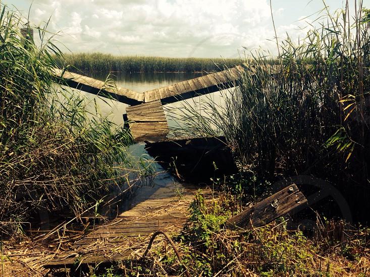 Collapsed dock photo