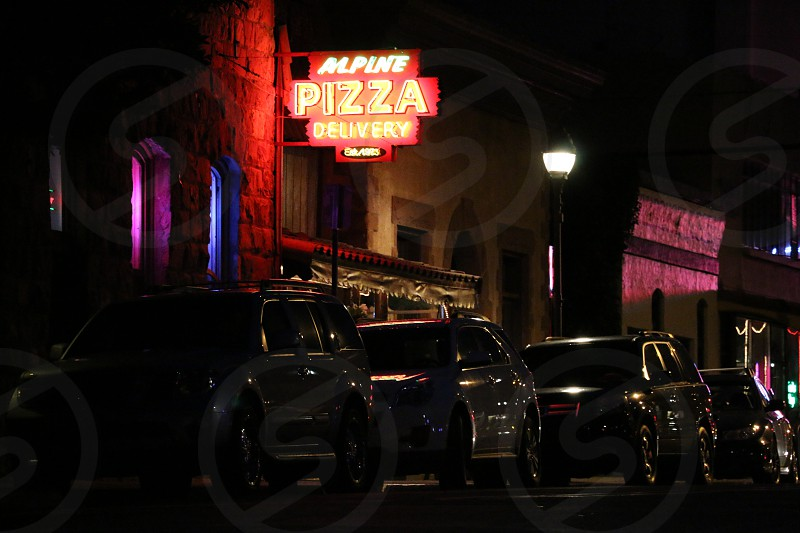Flagstaff Arizona nightlife neon architecture automobile car style photo