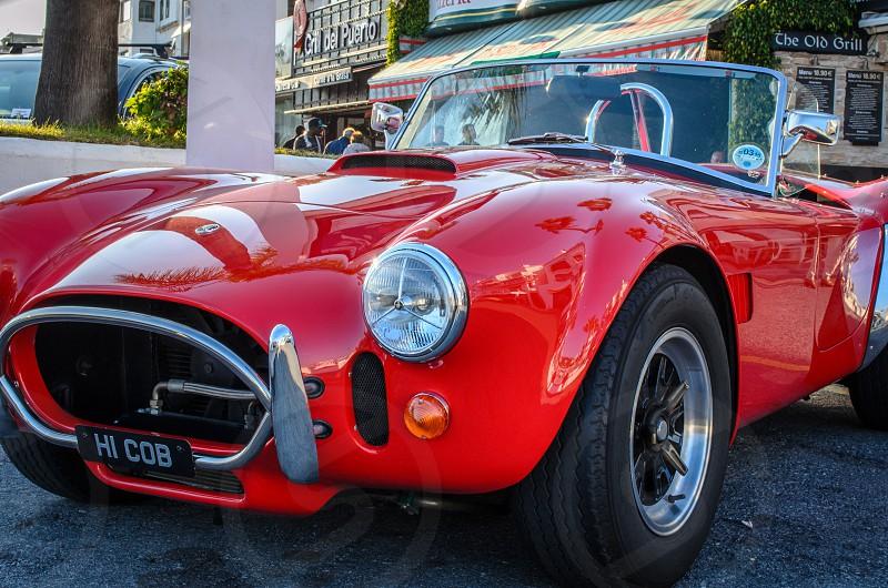 Beautiful Red Shelby Cobra at Puerto Banus Marbella - Spain photo
