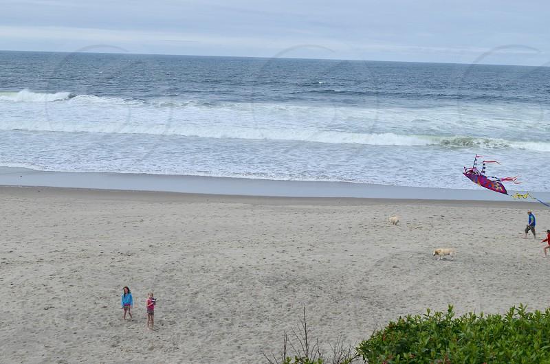 Lincoln City Oregon beach ocean photo