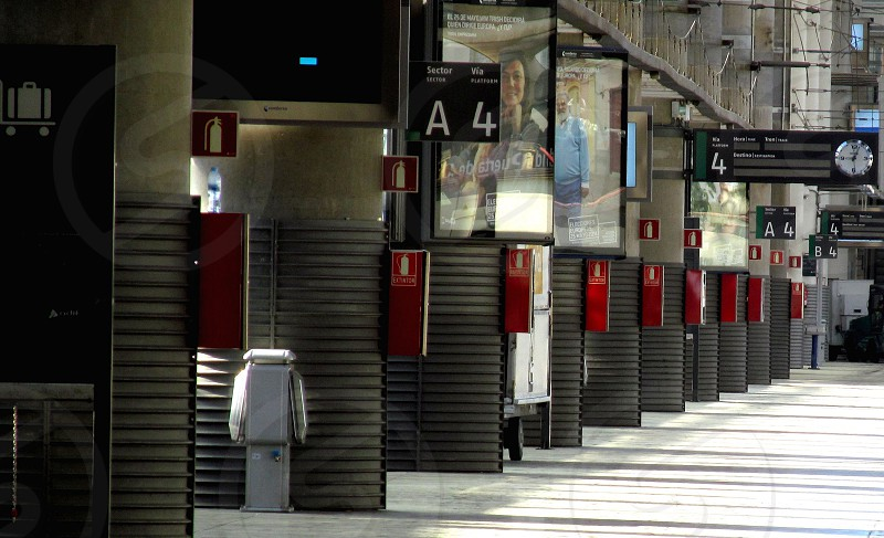 Train station Madrid Spain. photo