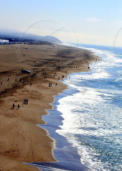 Ocean Beach from Cliff House San Francisco  photo
