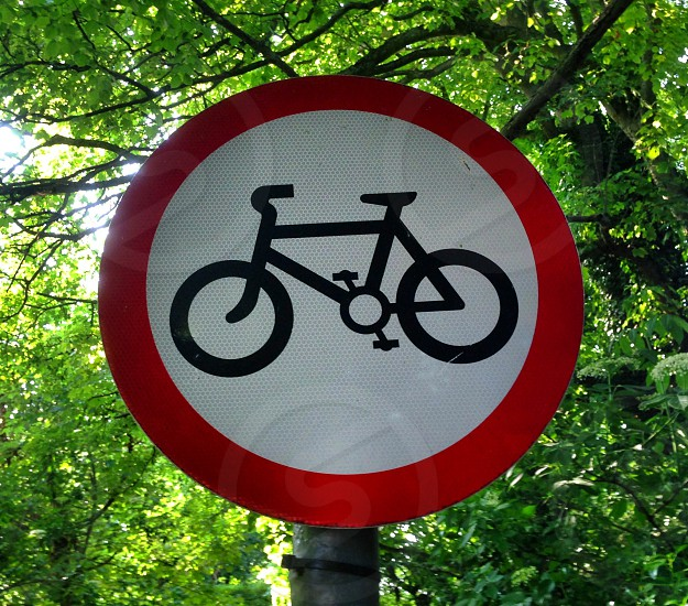 Circles cycling sign bicycle photo