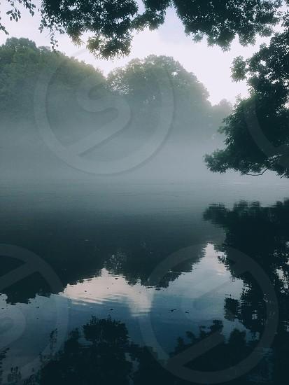 Foggy river. photo
