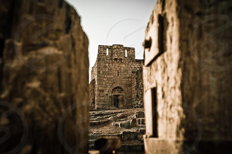 Castle between battlements photo