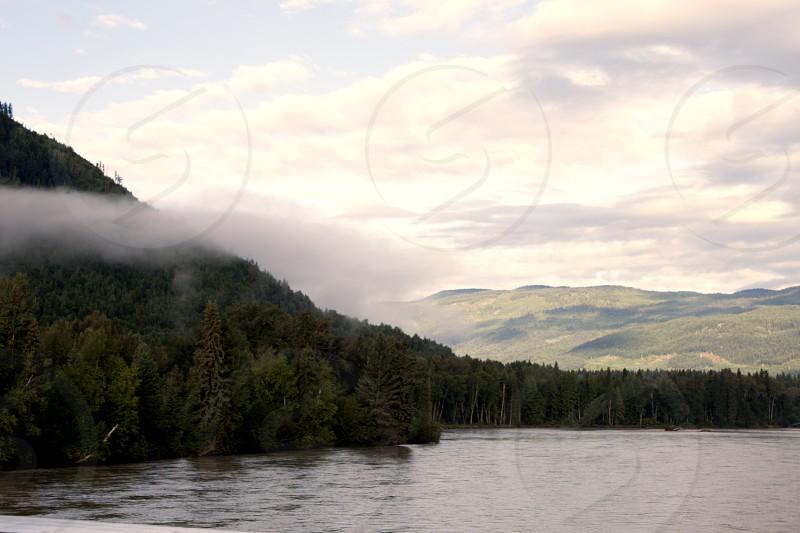 kamloops BC river fog cloud photo