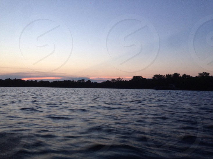 Beautiful sunset on Lake Champlain photo