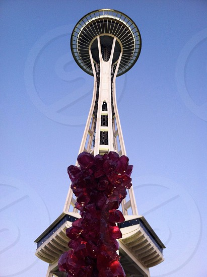 space needle tower low angle view photo