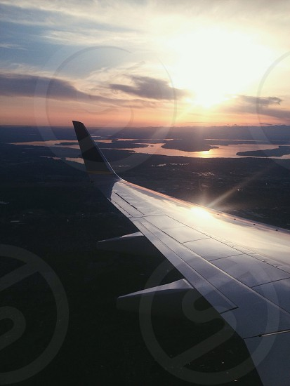 plane wings photo