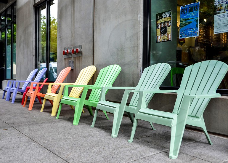 Rainbow chairs diversity equality  photo