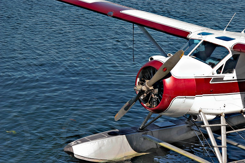 Seaplane moored in Vancouver photo